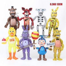 sister doll Canada - Five Nights At Freddy S Action Figures Set Fnaf Foxy Chica Bonnie Freddy Fazbear Sister Location Model Dolls Fnaf Toys