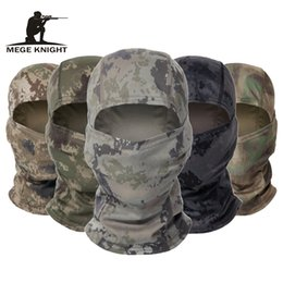 helmet face shields Australia - MEGE Camouflage Balaclava Tactical Army Face Mask Cycling War game Face Shield Hunting Helmet Cap Moto Skull Mask Men