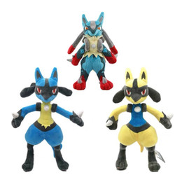 Discount holiday stuffed animals Lucario Kids Toy Stuffed Doll Baby Plush Toy Holiday Halloween Gift 26-30CM