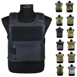 molle plate carriers 2020 - Adjustable Tactical Vest Outdoor Hunting Paintball Molle Vest With Chest Protective Plate Carrier Training Protective ch