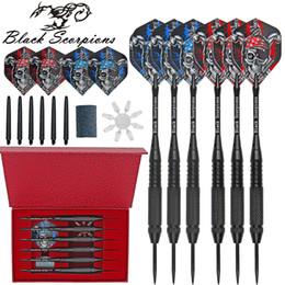 Toptan satış 6PCS Profesyonel Çelik İğne İpucu Dart Setleri, Tungsten Namlu Alüminyum Miller Çelik İpucu Dart Setleri