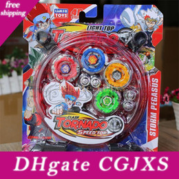 beyblade storm Australia - 4d Tornado Speed Top Beyblade Toy Storm Pegasus Alloy Gyro Set Best Funny Toys For Boys Christmas Present