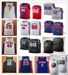 jerseys derrick rose Australia - Printed Men Blake Griffin 23 Brandon Knight 20 Tony Snell 17 Derrick Rose 25 Luke Kennard 5 Thon Maker 7 Sekou Doumbouya 45 Jerseys