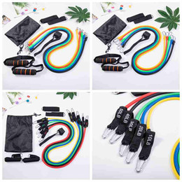 11pcs set Pull Rope Fitness Exercises Resistance Bands Latex Body Training Workout Elastic Yoga Band Fitness Supplies CYZ2606 10Pcs on Sale