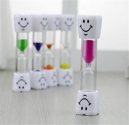 timer hourglass NZ - New Home Smiley Children Kids Toothbrush Timer Hourglass Sand Clock Egg Timer 3min Timer For Tea Cafe Timekeeping Hourglass