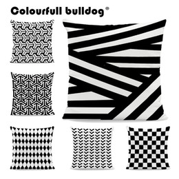 Discount arrow pillow covers Wholesale Black and White Geometric Striped Rhombus Pillow Cases GO Arrow Plaid Checkered Polka Dot Cushion Covers Home