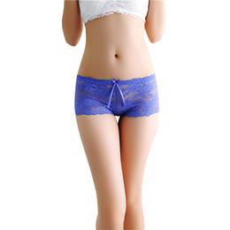 Wholesale lace boxer shorts for sale - Group buy Low rise Summer Thin Lace Panties Underwear Women Transparent Seamless Shorts Women s Intimates Boxers Boyshorts Lingerie