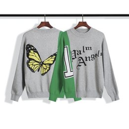 Wholesale long sleeve high neck sweater for sale - Group buy 2020 new Mens Sweaters Men Women High Quality butterfly letters Round Neck Long Sleeve Sweater Mens Casual Sweatshirt Size S XL