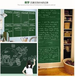 chalk wall stickers Australia - 18*79inch Chalkboard Blackboard Wall Stickers Black Board Sticker Erasable Removable Sticker With Chalks Or Pen For Kids Children DBC BH2710