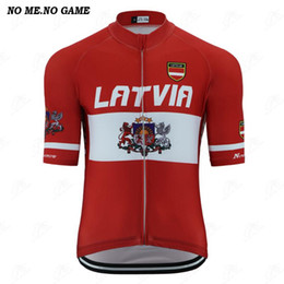 games race Australia - NO ME NO GAME-Pro Latvia National flag emblem retro men pro team cycling jersey road racing bike clothing breathale cycling wear