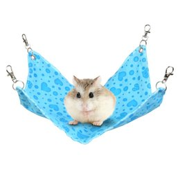 hamster beds UK - Hamster Hangmat Guinea Pig Chinchilla Rabbit Cage For Hamsters Pet Sleeping hammock Hanging Bed Accessories Littlest Pet Product