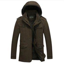 Wholesale super plus size coats for sale - Group buy New Fashion Men s Fleece Overcoat Thickening Winter Coat Parka Mens Super Warm Greatcoat Cotton Casual Jacket Plus Size L XL