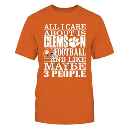 Wholesale clemson football t shirt for sale – custom All I Care About Is Clemson Football T Shirt Officially Licensed Apparel