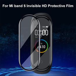 Ingrosso Protezione per lo schermo 3D Protector Xiaomi Mi Banda 5 Film Strap Mi Band5 intelligente Guarda Miband completa morbida Vetro Xiaomi Miband5 Film