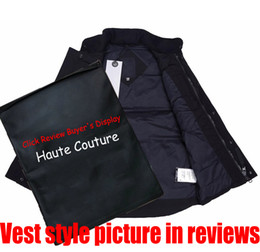 Wholesale Mens Down Vest Parkas with Map Embroidery 2020 New Mens Down Coat Winter Boys Sleeveless Jackets Womens Down Coat Active New Clothes