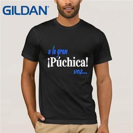 Wholesale el salvador online – design A La Gran Puchica Vos Spanish Slang El Salvador T Shirt