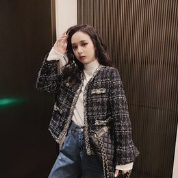 Wholesale wool coat small resale online - DYA7S Woolen coat wear wear winter tweed women s autumn and winter women s suit socialite wool small fragrance style clothing cardigan