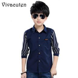 Shirts pour les garçons Marque Printemps Automne tees Coton Casual enfants Vêtements pour garçons école chez les adolescentes Tenue de club sportif Blouses H003 en Solde