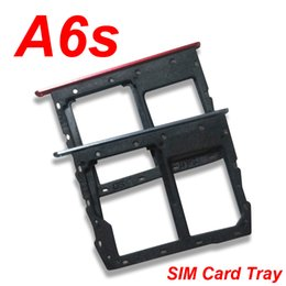 galaxy sim tray Australia - 50pcs lot For Samsung Galaxy A6S SIM Card Holder Tray SD Sim Card Holder Slot Adapter Replacement