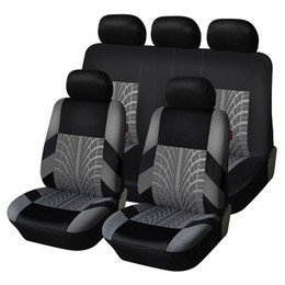 9pcs / Set Bordery Cubiertas de asiento de automóvil Conjunto Universal Fit Must Cars Cubiertas con el estilismo de la pista de neumáticos Auto Decoración del interior del automóvil Protector de asiento en venta