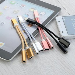 jack connector types UK - 2 In 1 Charger Audio Type C Earphone Headphone Jack Adapter Connector Cable 3 .5mm Aux Headphone Jack Audio Adapter For Samsung Galaxy