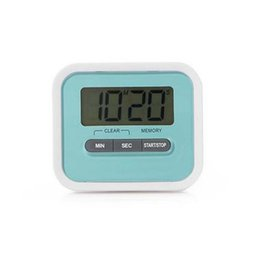 plastic lcd screen NZ - LCD Digital Screen Kitchen Timer Kitchen Alarm Clock Timer Kitchen Cooking Electronic Timers Student Reminder Timing Tools TQQ BH3167