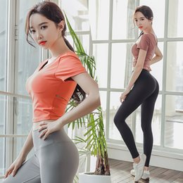 Wholesale female bodybuilding clothing for sale - Group buy Women Piece Sport Gym Clothes Set Squat Proof Pant Seamless high waist leggings slim bodybuilding Yoga Suit jogging female