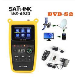 Satlink WS-6933 DVB-S2 FTA CKU Band Satlink Digital Satellite Finder Meter ws6933 v8 finder media player on Sale