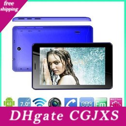 7 Inch A13 Dual Sim 2g Phone Call Tablet Android 4 .0 Dual Camera 512m 4gb 1 .2ghz Capacitive Screen Wifi Bluetooth Android Phablet 000608 on Sale