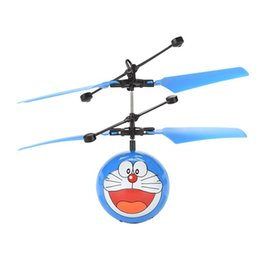 dolphin lights Canada - Kids Induction Sensing Children Flying Night Characters Ball Flying Airplane Remote Control Gesture Infrared Gift Light Drone Cartoon T Xgjb