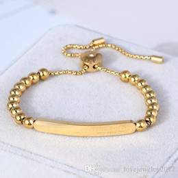 gold stripping Australia - Luxury Style elastic beads bracelet with gold Metal strip design for women and men hand strap couple bracelets fine jewelry