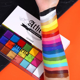 face body painting colors Australia - UCANBE 20 Colors Face Body Painting Oil Safe Kids Flash Tattoo Painting Art Halloween Party Makeup Fancy Dress Beauty Palette