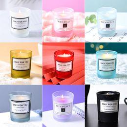 Toptan satış Aromaterapi Mumlar Romantik Doğum Günü Kokulu Mum Yaratıcı Hediyelik Eşya Sevgililer Günü Mumlar 15 Lezzet Özelleştirilebilir Etiket XD23994