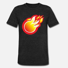 fire balls Australia - Fire Ball Icon t shirt men Designs Short Sleeve Crew Neck male Fit Funny summer Pictures shirt