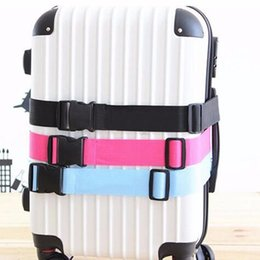 tying wire UK - 100~188cm Adjustable Suitcase Luggage Straps Travel Buckle Baggage Tie Down Belt Lock Dec19