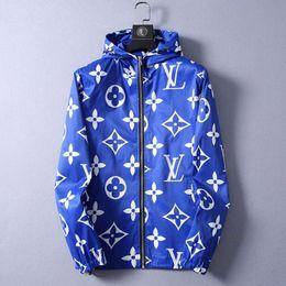Wholesale tracksuits embroidery resale online – Hooded Windbreaker Zipper tracksuit Mens Jackets Coat Autumn Slim Outerwear Stylist Jackets Men Women Designer Jacket Coat