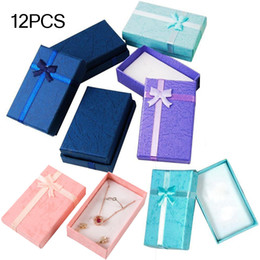 assorted boxes NZ - 12pcs Assorted Jewelry Gifts Romantic Jewellery Gift Box Pendant Case Display For Earring Necklace Ring Watch Beauty Jewelry Box MX200810