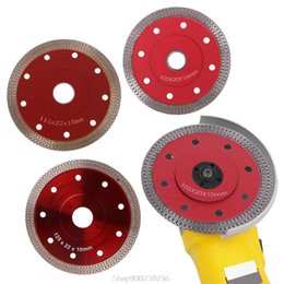 ceramic dropship NZ - Red Hot Pressed Sintered Mesh Turbo Ceramic Tile Granite Marble Diamond Saw Blade Cutting Disc Wheel Bore Tools Au27 20 Dropship