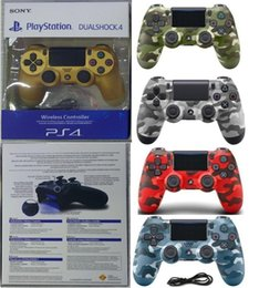 station wireless controllers UK - Eu Version Camouflage Wireless Bluetooth Controller For Ps4 Vibration Joystick Gamepad Game Controller Play Station With Package