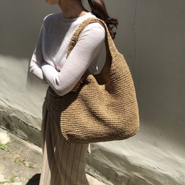 weaving straw tote bags NZ - Fashion Rattan Women Shoulder Bags Wikcer Woven Female Handbags Large Capacity Summer Beach Straw Bags Casual Totes Purses LJ200827
