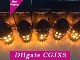 Neue kreative Art und Weise, wasser- und staubdicht Bluetooth-Sound-Box Led Flamme Lampe Cafe Bar Atmosphäre Lampe Geschäfts-Geschenk-Lampe im Angebot