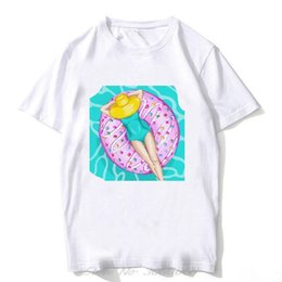 bikini t shirts UK - bikini beauty beach vacation in the sun illustrations vogue print ladies t-shirt 90s harajuku women tshirt men tees