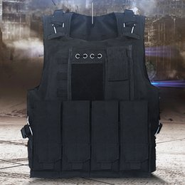 Discount molle plate carriers USMC Tactical Vest Molle Combat Assault Plate Carrier Tactical Vest 12 Colors CS Outdoor Clothing Hunting