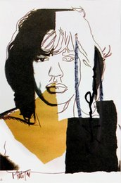 pop art painting portrait NZ - ANDY WARHOL Mick Jagger Portrait Pop Art Home Decoration Oil Painting On Canvas Wall Art Canvas Pictures For Living Room 200831