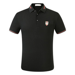 Wholesale formal men polo resale online – Maserati Crown Polo Shirts Golf Slim Comfortable Designer Formal Polo Shirts with Cotton Blend for Men SS9F