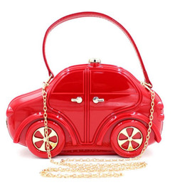 Wholesale clutch cars resale online - Designer Hot Brand Design Kindergarten Boy Girl Evening Bags Car Acrylic Clutch Child Tote Handbags Kids Cartoon Travel Bags RQC