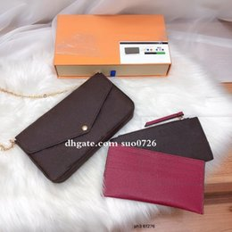genuine leather items NZ - Sale 3 piece set Shoulder bag women Genuine Leather handbags purses lady tote bags Coin Purse three item high quality With box 3698
