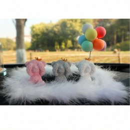 cars balloons NZ - The three little cute toy bear and macaron balloons creative car-ornaments household interior decoration set pieces 1v8l#