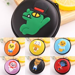 cartoon headset headphone Australia - Creative cartoon small coin purse mini portable round earphone bag earphone data cable headphones Wallet headset storage bag