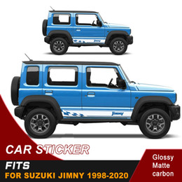 Discount car side graphics Car Stickers Side Door Stripe Racing graphic Vinyl Car Decals Custom Fit For Suzuki Jimny 3 Doors And 5 Doors 1998-2020